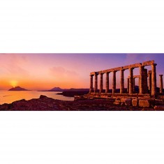 Puzzle 2000 pièces panoramique - Alexander von Humboldt : Le temple de Poseïdon
