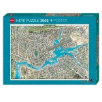 Puzzle 3000 pièces : City of pop
