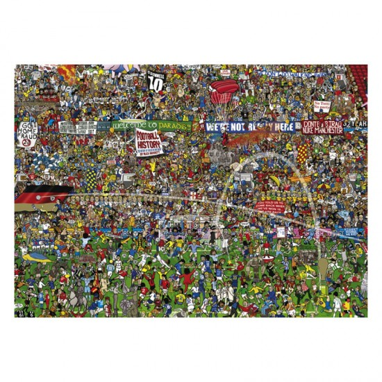 Puzzle 3000 pièces : Histoire du Football : edition Spéciale - Heye-29205-58483