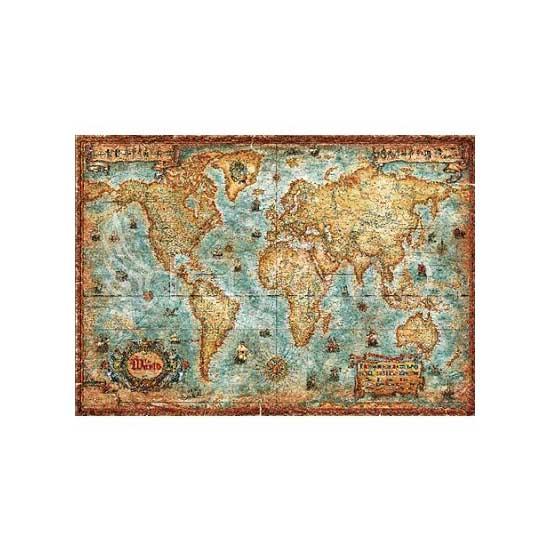 Puzzle 3000 pièces - Carte du monde - Heye-29275-58119