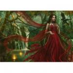 Puzzle 3000 pièces - Cris Ortega : La robe rouge