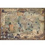 Puzzle 3000 pièces Rajko Zigic : Carte du monde pirate