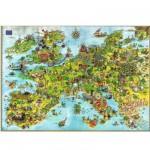 Puzzle 4000 pièces - Degano : l'Europe des dragons unis