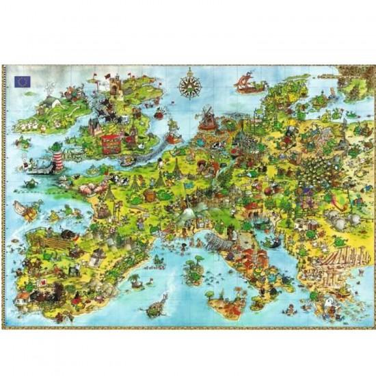 Puzzle 4000 pièces - Degano : l'Europe des dragons unis - Heye-08854-58513