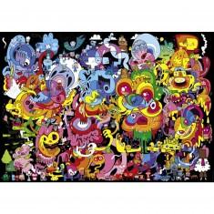 Puzzle 4000 pièces Jon Burgerman : Psychedoodlic