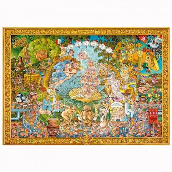 Puzzle 4000 pièces Michael Ryba : The Pig in Art - Mercier-29637-58515
