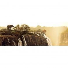 Puzzle 75 pièces panoramique Edition Alexander Humboldt : Eléphant