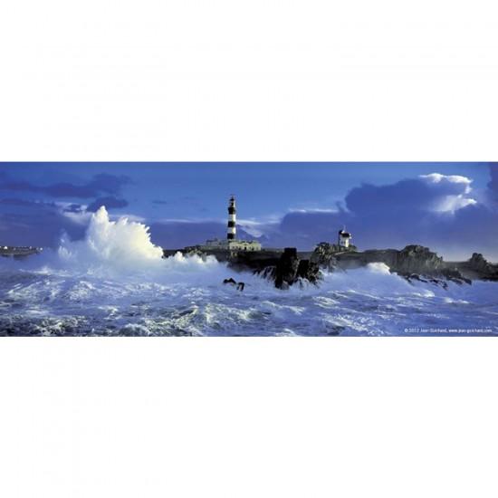 Puzzle 75 pièces panoramique Edition Alexander Humboldt : Phare dans la tempête - Heye-57907-29528