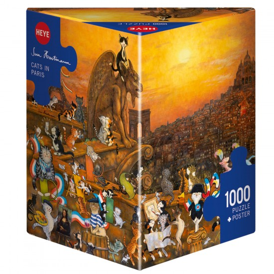 Puzzle 1000 pièces : Cats in Paris - Heye-58114