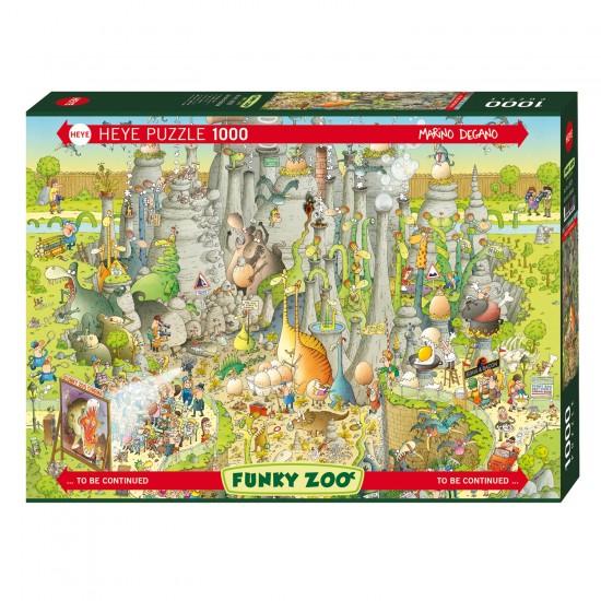 Puzzle 1000 pièces : Jurassic Habitat - Heye-58246