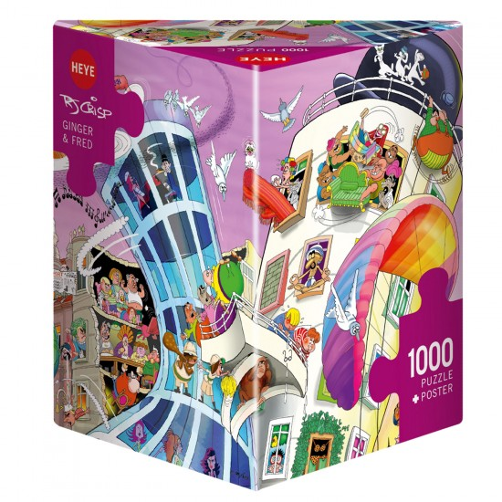 Puzzle 1000 pièces : Ginger et Fred - Heye-58113