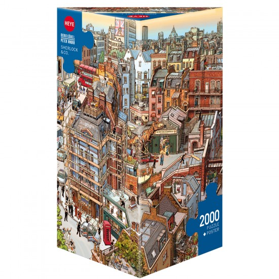 Puzzle 2000 pièces : Sherlock and co - Heye-58435
