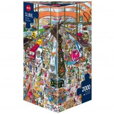 Puzzle 2000 pièces : Train Station