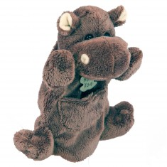 Marionnette peluche Hippopotame 25 cm