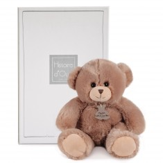 Peluche ours douillet champagne 40 cm