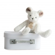 Peluche souris blanche : Sweety couture 24 cm
