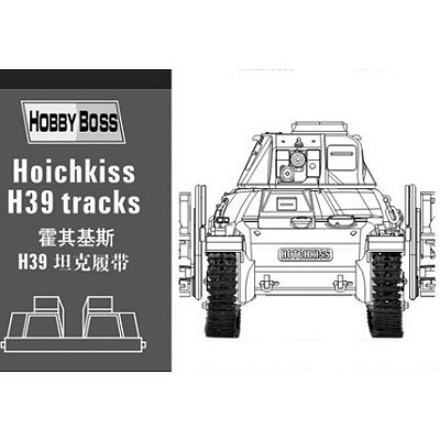 Accessoires militaires: Chenilles pour char Hotchkiss H39 - Hobbyboss-81003