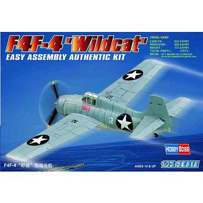 Maquette avion: F4F-4 Wildcat - Hobbyboss-80220