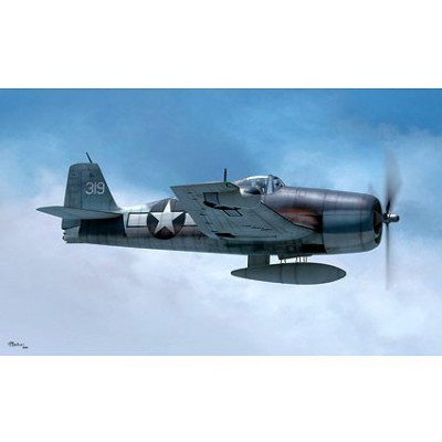 Maquette avion: F6F-3N Hellcat - Hobbyboss-80340
