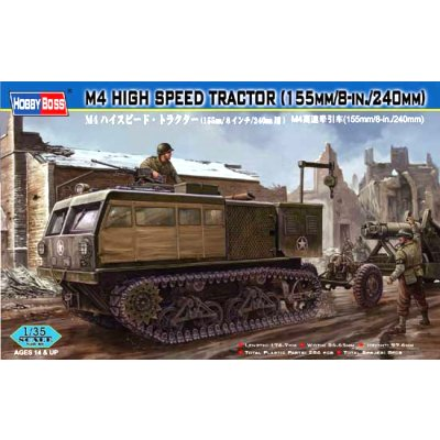 Maquette Char : M4 High Speed Tractors 155 mm/8-in/240 mm - Hobbyboss-82408
