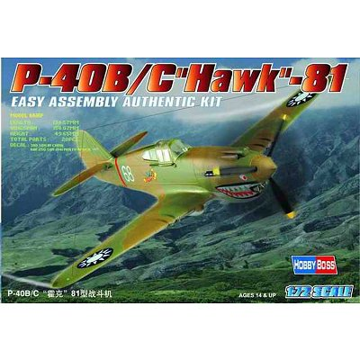 Maquette avion : P-40 B/C HAWK-81 - Hobbyboss-80209