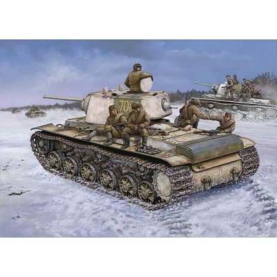 Maquette Char: Russia KV-1 Model 1942 Heavy Cast Turret Tank - Hobbyboss-84813