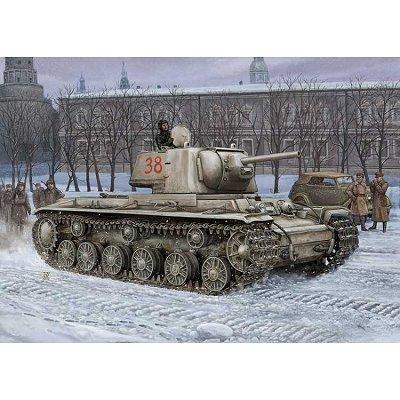 Maquette Char: Russia KV-1 Model Tank 1942 - Hobbyboss-84814