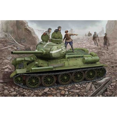 Maquette Char : Russia T-34/76 Model 1944 Flattened Turret - Hobbyboss-84807