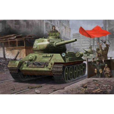 Maquette Char : Russia T-34/85 Model 1944 Anglejointed Turret - Hobbyboss-84809