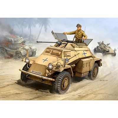 Maquette Sd.Kfz. 222 Leichter Panzerspähwagen 2cm - Hobbyboss-82442