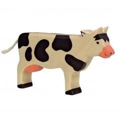 Figurine en bois Holztiger : Animaux de la Ferme : Vache debout