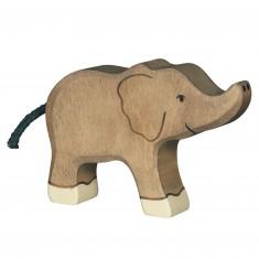 Figurine en bois Holztiger : Animaux de la Jungle : Eléphant petit