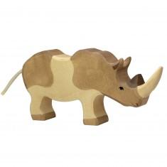 Figurine en bois Holztiger : Animaux de la Jungle : Rhinocéros