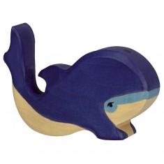 Figurine en bois Holztiger : Animaux de la Mer : Baleine bleue