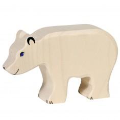 Figurine en bois Holztiger : Animaux de la Mer : Ours blanc