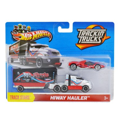 transporteur et v hicule hot wheels camion et voiture rouge hot wheels magasin de jouets. Black Bedroom Furniture Sets. Home Design Ideas