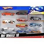 Voitures Hot Wheels Coffret de 10 voitures à l'assortiment