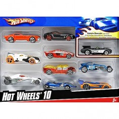 Voitures Hot Wheels Coffret de 10 voitures à l'assortiment