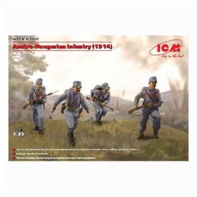 Figurines militaires Infanterie Austro-Hongroise 1ère guerre mondiale et 4 figurines - ICM-35673