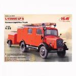 Maquette camion Mercedes L1500S LF 8 Camion de pompiers Allemand 1942