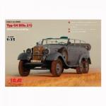 Maquette voiture Type 4 G4 (Kfz.21) Véhicule d'Etat-Major Allemand 2ème Guerre Mondiale