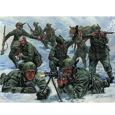 Figurines 2ème Guerre Mondiale : 5ème Régiment Alpin Italien - Italeri-6059