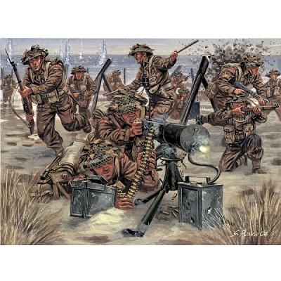 Figurines 2ème Guerre Mondiale : Artillerie Britannique - Italeri-6056