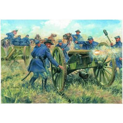 Figurines Guerre de Sécession: Artillerie de l'Union - Italeri-6038
