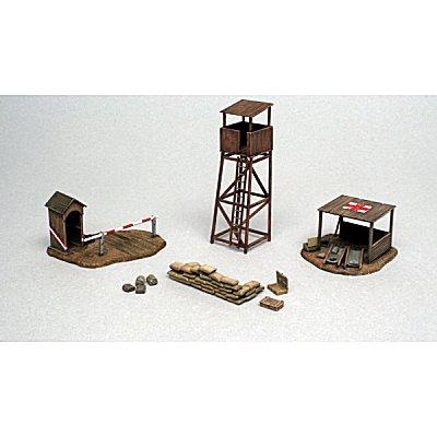 Accessoires de décor de guerre 1/72 : Bâtiments champ de bataille - Italeri-6130