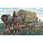 Figurines Guerres napoléoniennes: Chariot ravitaillement Français