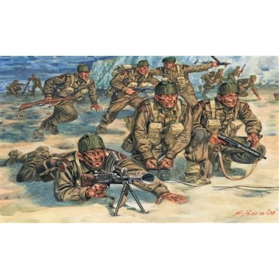 Figurines 2ème Guerre Mondiale : Commandos Britanniques - Italeri-6064