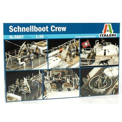 Figurines 2ème Guerre Mondiale : Equipage Schnellboot S100 - Italeri-5607