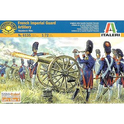 Figurines des Guerres napoléoniennes: Artillerie de la Garde Française - Italeri-6135