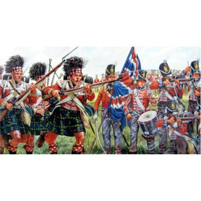 Figurines Guerres napoléoniennes: Infanterie britannique et écossaise - Italeri-6058